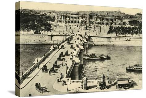 Paris Place Concorde--Stretched Canvas Print