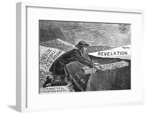 Flat Earth Puzzle--Framed Art Print