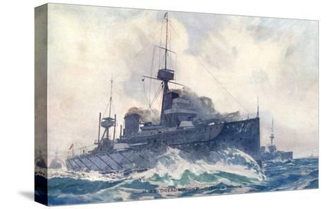 Dreadnought at Speed--Stretched Canvas Print