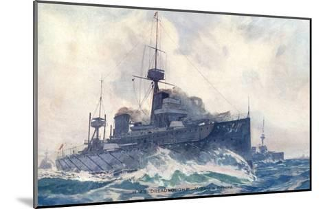 Dreadnought at Speed--Mounted Giclee Print
