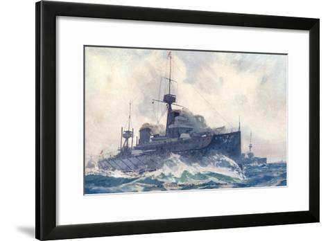 Dreadnought at Speed--Framed Art Print
