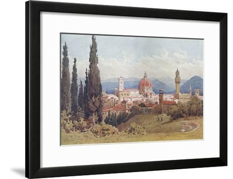 Florence, Distant View--Framed Art Print