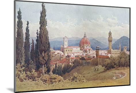 Florence, Distant View--Mounted Giclee Print