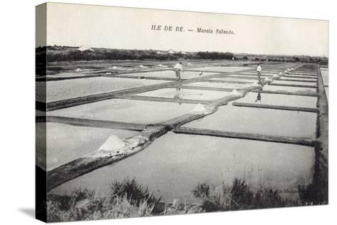 Salt on Ile de Re--Stretched Canvas Print