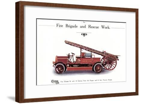 Commer Fire Engine--Framed Art Print