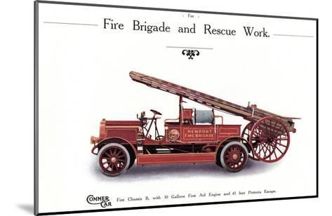 Commer Fire Engine--Mounted Giclee Print