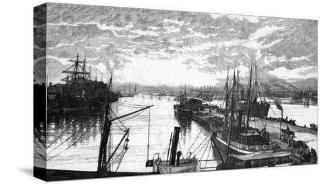 Copenhagen Harbour--Stretched Canvas Print