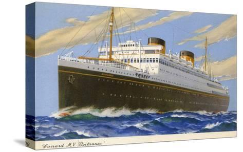 Mv Britannic Cruse Ship--Stretched Canvas Print