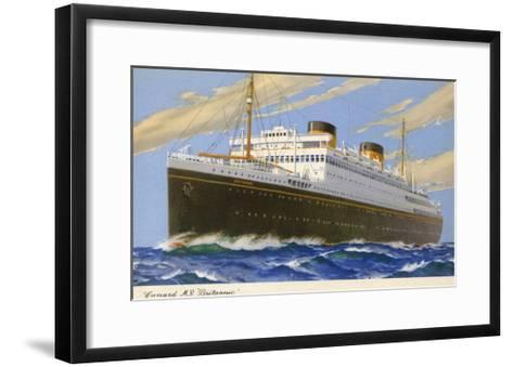 Mv Britannic Cruse Ship--Framed Art Print