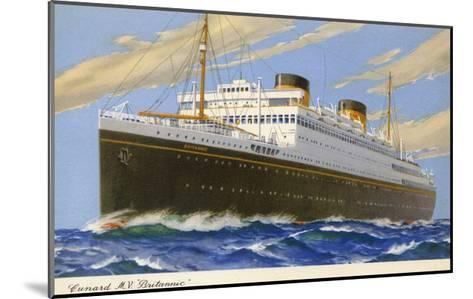 Mv Britannic Cruse Ship--Mounted Giclee Print