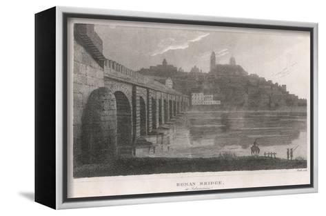 Spain, Salamanca Bridge--Framed Canvas Print