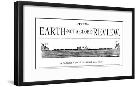 Flat Earth Magazine--Framed Art Print