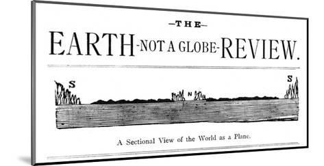 Flat Earth Magazine--Mounted Giclee Print