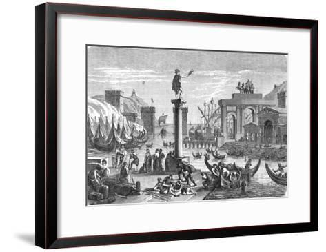 Ancient Ships in a Roman Seaport.--Framed Art Print