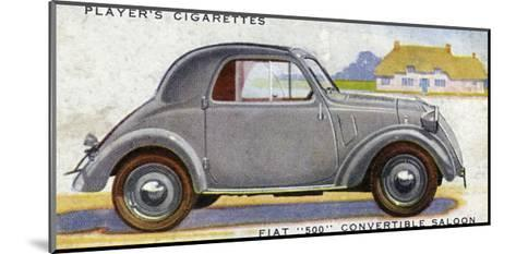 Fiat 500--Mounted Giclee Print