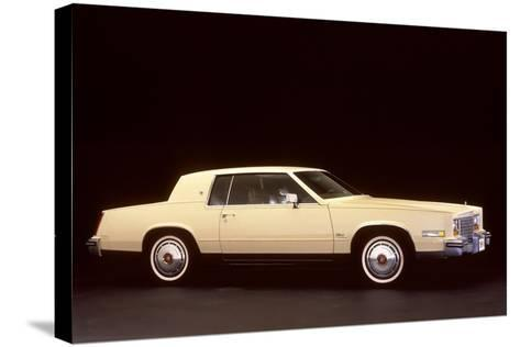 White Cadillac--Stretched Canvas Print