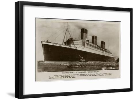 The Queen Mary--Framed Art Print