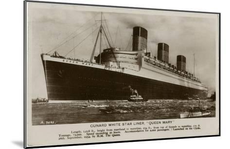 The Queen Mary--Mounted Giclee Print