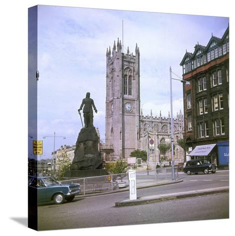 Manchester Cathedral--Stretched Canvas Print