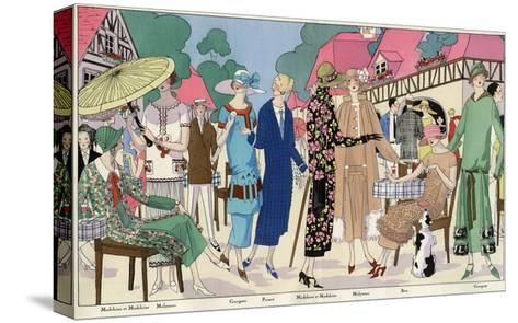 Fashionable Ladies in Designer Outfits--Stretched Canvas Print