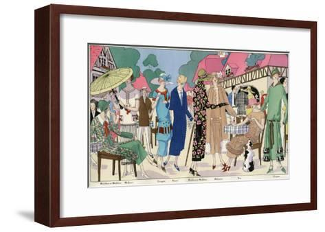 Fashionable Ladies in Designer Outfits--Framed Art Print