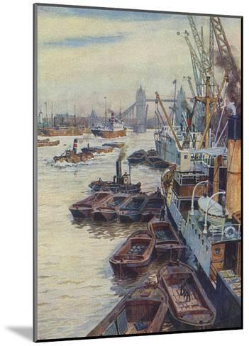 The Pool of London--Mounted Giclee Print