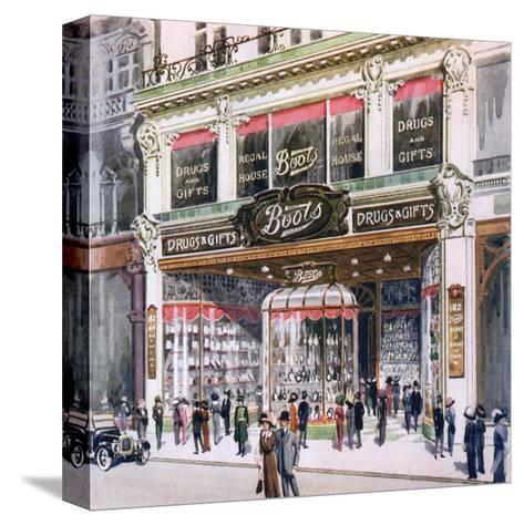 Boots, Regent Street--Stretched Canvas Print