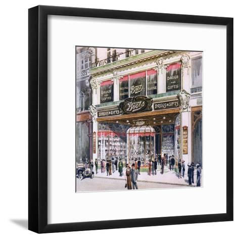 Boots, Regent Street--Framed Art Print