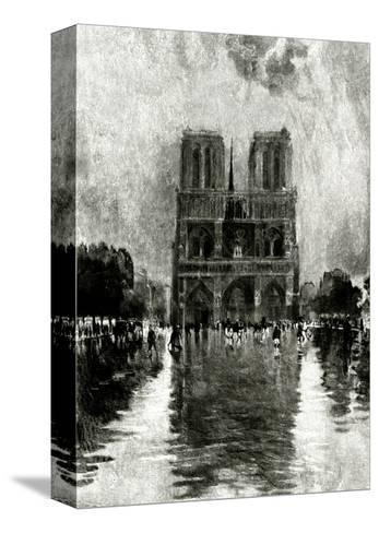 Paris, France - Notre-Dame--Stretched Canvas Print