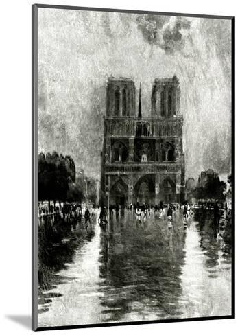Paris, France - Notre-Dame--Mounted Giclee Print