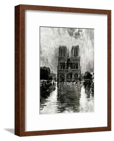 Paris, France - Notre-Dame--Framed Art Print