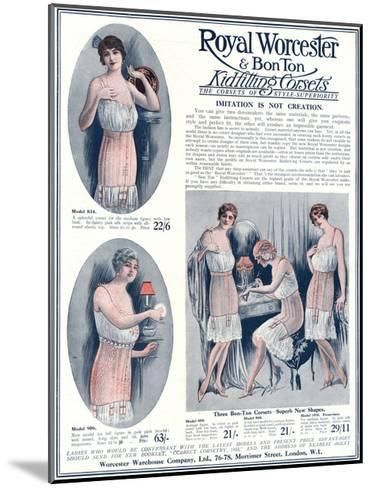 Advert for Royal Worcester Corsets 1922--Mounted Giclee Print