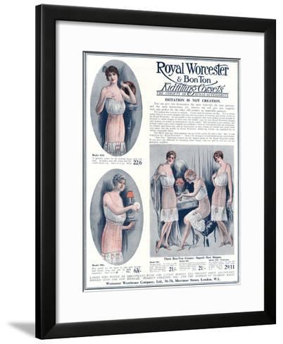 Advert for Royal Worcester Corsets 1922--Framed Art Print