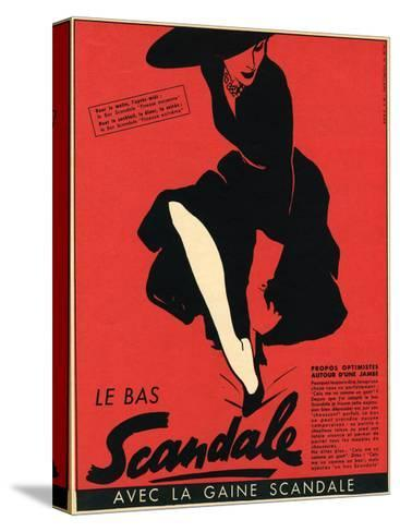 Scandale Stockings 1952--Stretched Canvas Print