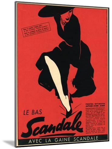 Scandale Stockings 1952--Mounted Giclee Print