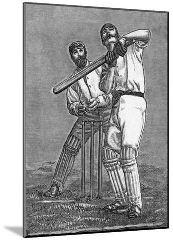 Cricket a Batsman Dealing with a Full Pitch--Mounted Giclee Print