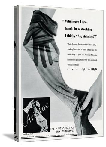 Advert for Aristoc Stockings 1936--Stretched Canvas Print