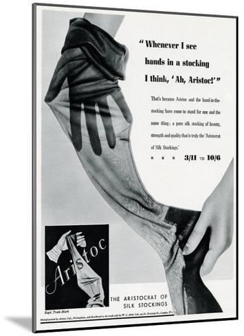 Advert for Aristoc Stockings 1936--Mounted Giclee Print
