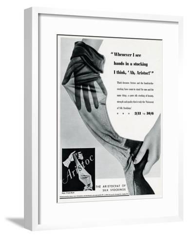 Advert for Aristoc Stockings 1936--Framed Art Print
