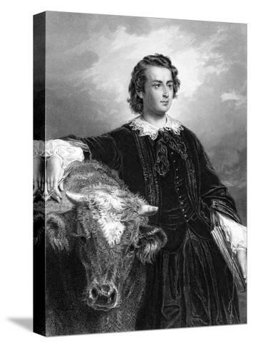 Rosa Bonheur and Cow--Stretched Canvas Print