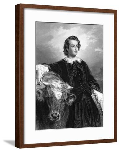Rosa Bonheur and Cow--Framed Art Print