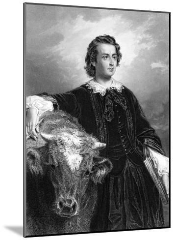Rosa Bonheur and Cow--Mounted Giclee Print