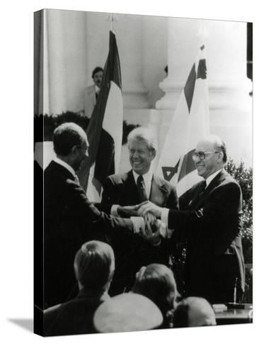 Jimmy Carter, Sadat, Begin--Stretched Canvas Print