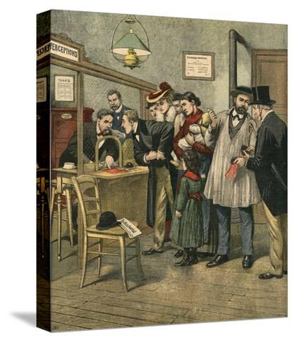 Paying Taxes, 1903--Stretched Canvas Print