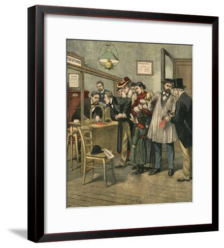 Paying Taxes, 1903--Framed Art Print