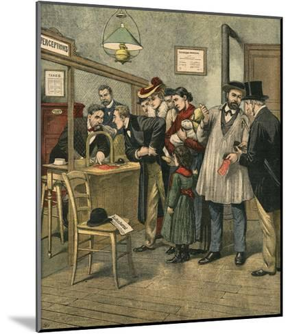 Paying Taxes, 1903--Mounted Giclee Print