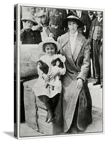 Little Girl Rescued from the 'Lusitania' 1915--Stretched Canvas Print