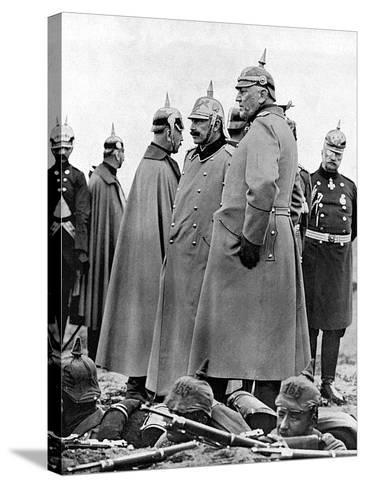 General Moltke and Kaiser Wilhelm II--Stretched Canvas Print