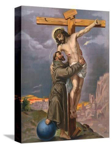 Francis and Jesus--Stretched Canvas Print