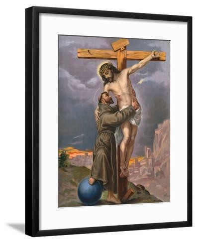 Francis and Jesus--Framed Art Print